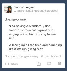 nO I THINK WILL WOULD BE AN AMAZING SINGER