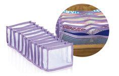02-produtos-praticos-para-closets-femininos - Sutiãs de bojo são ótimos na hora de compor o look, porém guardá-los sem amassar exige talento de personal organizer. Daí por que recorrer ao Wave que os acomoda abertos na gaveta. Já o Linea armazena calcinhas. Ambos são da Lenox. COMPRAR EM http://www.walmart.com.br/produto/Utilidades-domesticas/Organizador/Lenox/473477-organizador-de-gaveta-para-soutien-lenox-wave