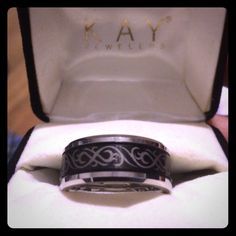 Women's Wedding Band from Kay Jeweler New, never worn , Women's Wedding Band Tungsten Carbide , size 8 1/2, substantial piece of jewelry Kay Jewelers Jewelry Rings