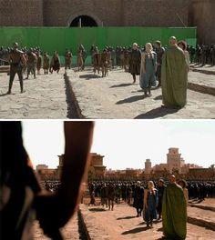 Behind magic of a movie. Green screen/Chroma key