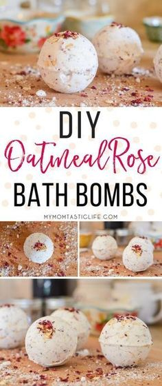 DIY Oatmeal Rose Bath Bombs