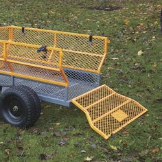 This handy Bannon Utility Trailer features a large x steel bed to haul loads up to lbs. Atv Dump Trailer, Quad Trailer, Utility Trailer, Landscape Trailers, Small Cooler, Loading Ramps, Decking Material, Deck Construction, Steel Bed