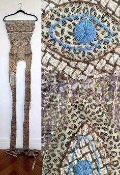 juliet martin, fiber art, saori, fine art, weaving, my eyes are down here
