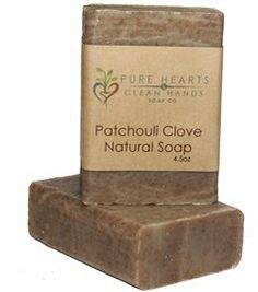 Patchouli Clove Natural Handmade Soap Bar - 4.5 oz by Pure Hearts & Clean Hands Soap Co.. $3.99. Your skin will love the Fresh - Pure - Handmade feeling this 4.5 oz soap bar gives it.. Made with natural skin loving vegetable oils, botanicals and herbs.. Completely handcrafted from start to finish in small batches to ensure the best american made quality possible.. Our all natural Patchouli and Clove soap bar is one of our very favorites! It's rich with earthy Patchouli and sp...