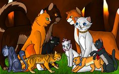 pictures of warrior cats | Aristocratic Warrior Cats by ~SilverCanDraw on deviantART
