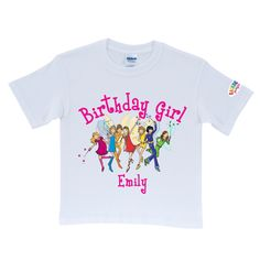 Rainbow Magic Rainbow Fairies Birthday Girl White T-Shirt - T-Shirts - Clothing…