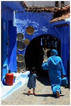 'The Blue City II' Photographic Print by Didi Bingham Moroccan Blue, Moroccan Style, Moroccan Art, Blue City Morocco, Naher Osten, Marrakesh, Marrakech Morocco, World Of Color, North Africa