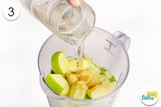 pour water into blender to detox your body