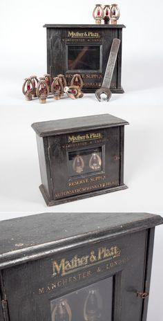 Old Fire Sprinkler Head Box Sprinkler Heads, Fire Sprinkler, Sprinklers, Decorative Boxes, Engineering, Husband, Tools, History, Vintage