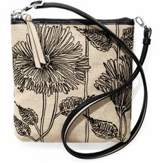 Daylee Mini Messenger Pouch available at Tan Handbags, Purses And Handbags, Brighton Wallets, Brighton Handbags, Mini Bag, Coin Purse, Pouch, Black Leather, Canvas Bags