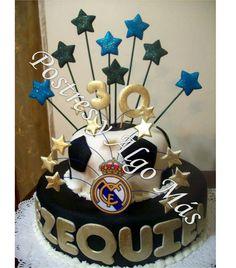 Tosta de Real Madrid - Real Madrid Cake   www.postresyalgomas.com