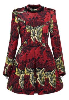 Marc by Marc Jacobs Acanthus Bonded Velvet Moulded Dress in Ruby Red Multi