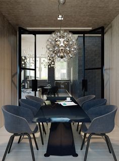 Conran and Partners Greenwich Peninsula, Workplace Design, Dining Room Inspiration, Create Space, Dining Table, Dining Rooms, Luxury Furniture, House Design, Interiors