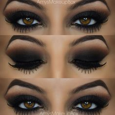 """""""Black smokes ◼️ to see how I created this look head over to my youtube page 'amys beauty box' the video is called 'seductive black smokey eye' !!! """""""