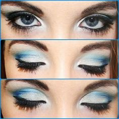 Blue and White Prom Makeup #makeup