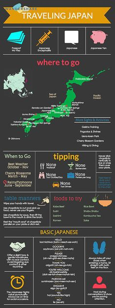 Wandershare Guides: Japan #infographic