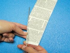 How to roll up newspaper tubes