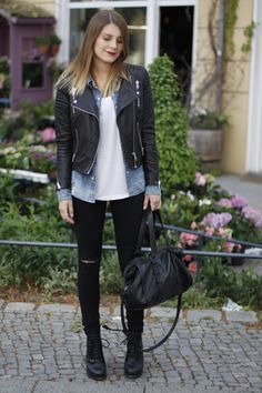 hoard of trends: outfit: black and denim. - personal style and fashion blog by magdalena from berlin