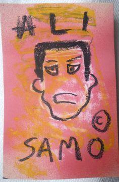 Original US vintage SAMO Basquiat NYC Street Art Muhammad Ali postcard 1980 COA #Modernism
