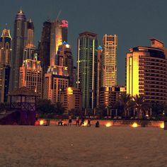 Jumeirah Beach Residence At sunset
