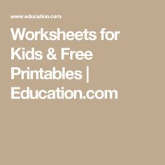 Worksheets for Kids & Free Printables Preschool Curriculum, Preschool Worksheets, Homeschooling, Kindergarten, Learning Centers, Preschool Activities, Grandchildren, Grandkids, Teaching Kids
