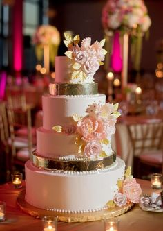 These creatively beautiful wedding cakes are extra special with intricate designs and colorful details! These are adorably crafted elegant cakes.