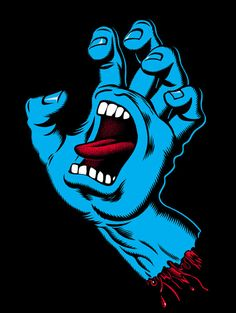 Screaming Hand - World's most famous skateboard graphic design by Jim Phillips