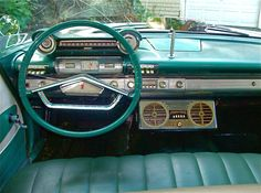 1961 Plymouth Custom Suburban wagon - space age dashboard.