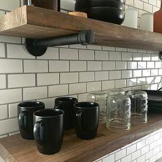 Pipe Shelf | Industrial Shelf | Floating Shelves | Pipe Shelves | Wood Shelves