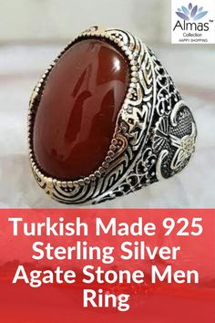 ONLY $169.99 + FREE SHIPPING Check out our new Agate Stone oval cut Turkish Silver rings handmade in Turkey. The perfect special gift. #usa #canada #uk #pakistan #eu #turkishring #kuwait #menfashion #islamicrings #muslimring #aqeeqrings #agatering #agatestone #muslimfashion #islamicgifts #bahrain #oman #saudiarabai #australia #belgium #sweden