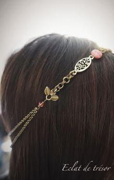 The product Headband Krystal chaîne bronze et pierre is sold by Eclat de tresor. www.eclatdetresor.tictail.com