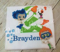 Bubble Guppies Inspired Shirt you pick 3 characters BOY or Girls on Etsy, $32.95