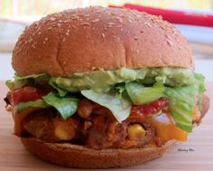 Spicy Southwestern Burger. This super food burger is crispy on the outside and soft on the inside.