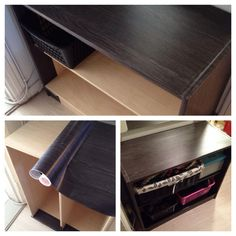 Decorated by using dc-fix. Cover our glass tv unit Upcycled Furniture, Furniture Decor, Glass Tv Unit, Blush Living Room, Sticky Vinyl, Dc Fix, Camping, Four Square, Diy Crafts