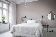 I can't get over the wall colors in this home. The pale pink bedroom walls come peeking through the light grey living room. The pink … Continue reading → Pale Pink Bedrooms, Beige Walls Bedroom, Pink Bedroom Decor, Bedroom Ideas, House Of Philia, Living Room Grey, Cozy Living, Room Colors, Wall Colors