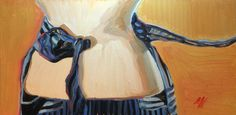 """Tied and Released #3, Oil on Panel, 24"""" x 12"""", ©2010 Jennie Traill Schaeffer"""