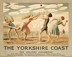 Vintage seaside posters - Laura Knight, The Yorkshire Coast, 1929.