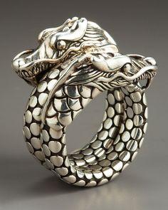 John Hardy Naga Head Coil Ring in Silver (7) - Lyst❤️❤️❤️