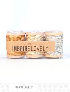 30+yards+Shimmer+Mix+Bakers+Twine+hand+wound+on+by+InspireLovely,+$10.00