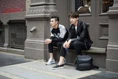 Rain's friend Kwang-Min Kim, along with the rest of the time sitting street to Zhang frontal view. — at New York City.