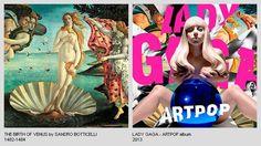 25 Portadas de Discos Inspiradas en Obras de Art / 25 Album Covers Inspired by Art