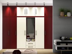 Wardrobe designs in different styles, materials & finishes are available in our bedroom design gallery. Wardrobe Door Designs, Wardrobe Design Bedroom, Bedroom Bed Design, Bedroom Furniture Design, Closet Bedroom, Wardrobe Furniture, Bedroom Ideas, Bedroom Cupboard Designs, Bedroom Cupboards
