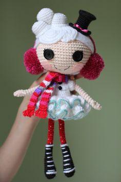 LALALOOPSY Winter Snowflake Crochet Amigurumi Doll by Npantz22.deviantart.com on @deviantART