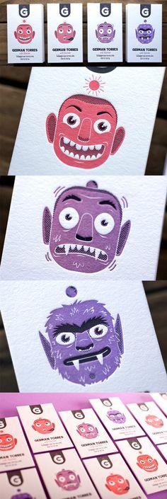 Creative Letterpress Business Card For An Illustrator