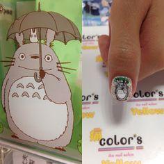 my neighbor totoro nail art tokyo studio ghibli Hayao Miyazaki