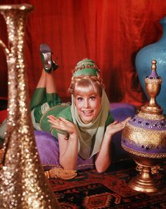 What is Your Wish, Master? Barbara Eden as a 2,000 year old genie in I Dream of Jeannie created by Sidney Sheldon - Via