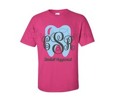 Dental Hygienist Monogram Shirt Dental Monogram by DecalDreams