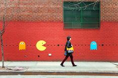 "street art! | ""Real Life Pacman"" by colormekatie, via Flickr"