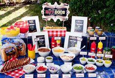 Buffet de cachorro quente para festas