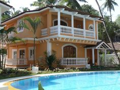 Boutique villas in Arpora Designed in the Indo-Portuguese style, these villas bear a striking element of the Goan style of architecture, with their little ?balcaos? and large verandahs. The complex comprises of 5 three bedroom villas, 2 four bedroom duplex villas and a 2 bedroom apartment. http://www.goavillarentals.in Call us at +91 98221 88818.